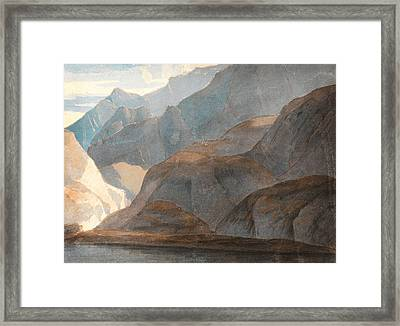 On The Lake Of Como Framed Print