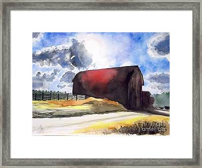 On The Macon Road. - Saline Michigan Framed Print