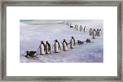 On The March Framed Print by Gary Hanna