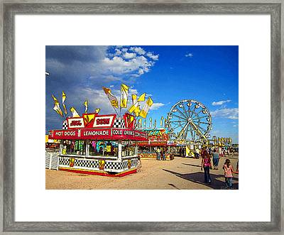 On The Midway Framed Print by Ric Soulen
