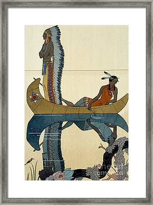 On The Missouri Framed Print by Georges Barbier