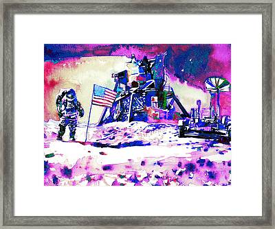 On The Moon Framed Print by Fabrizio Cassetta