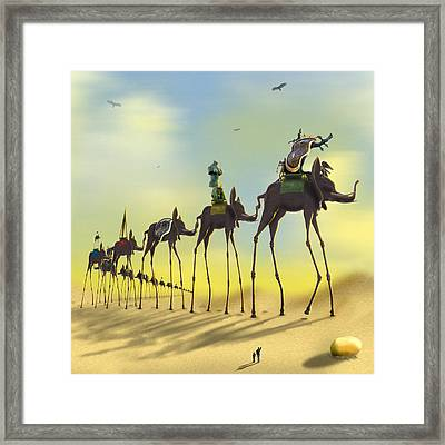 On The Move 2 Without Moon Framed Print