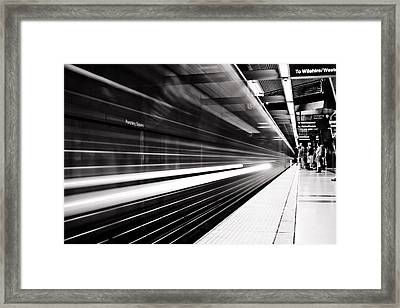 On The Move Framed Print by Andrew Raby