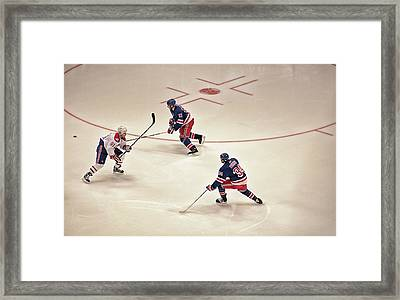 On The Offense Framed Print by Karol Livote