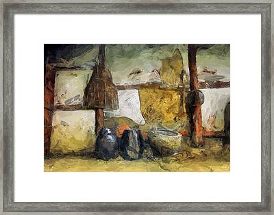 On The Old Farm Framed Print