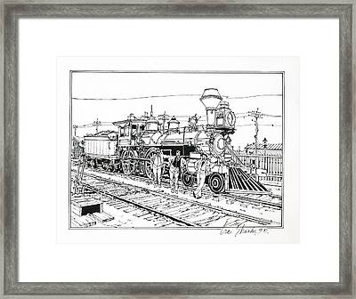On The Old Pennsy Framed Print by Ira Shander