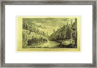 On The Ontonagon River, Engraving 1821, Narrative Journal Framed Print by Litz Collection