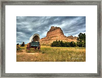 On The Oregon Trail 2 Framed Print