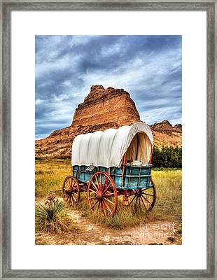On The Oregon Trail 3 Framed Print by Mel Steinhauer