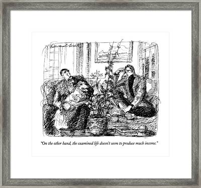 On The Other Hand Framed Print by Edward Sorel