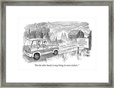 On The Other Hand Framed Print by Peter Steiner