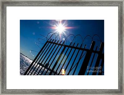 On The Other Side Framed Print by Kim Lessel