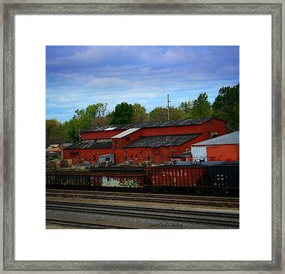 On The Other Side Of The Tracks Framed Print by Lena Wilhite