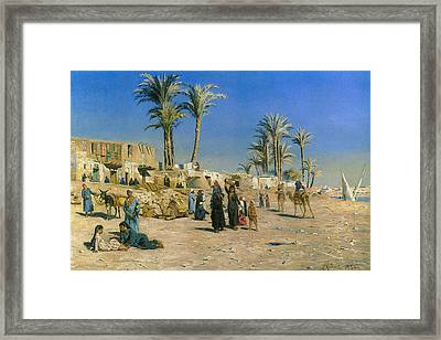 On The Outskirts Of Cairo Framed Print by Peder Mork Monsted