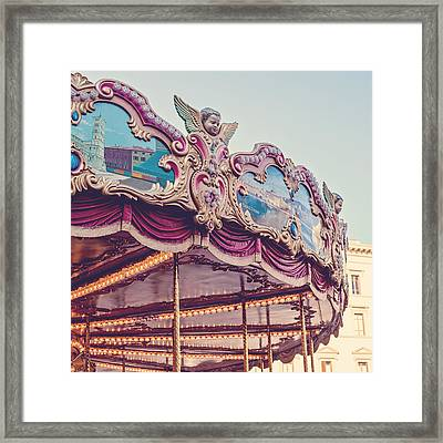 On The Piazza Framed Print