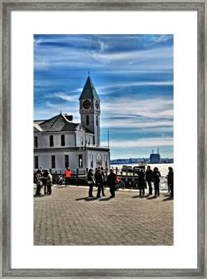 On The Pier In New York City Framed Print by Dan Sproul