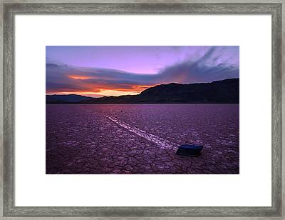 On The Playa Framed Print