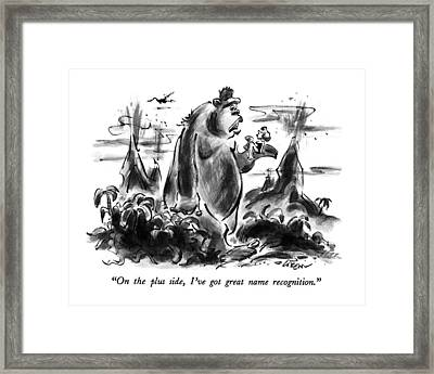 On The Plus Side Framed Print by Lee Lorenz