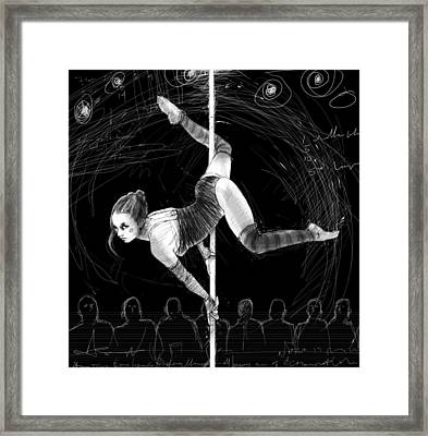 On The Pole 2 Framed Print