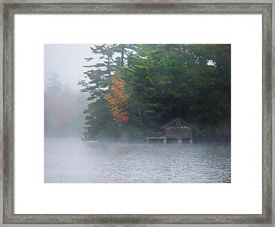 On The Pond Framed Print