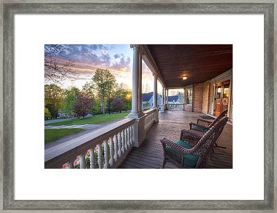On The Porch Framed Print by Eric Gendron