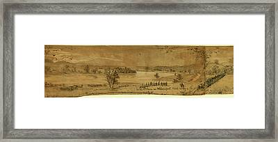 On The Potomac Nr. Williamsport Framed Print