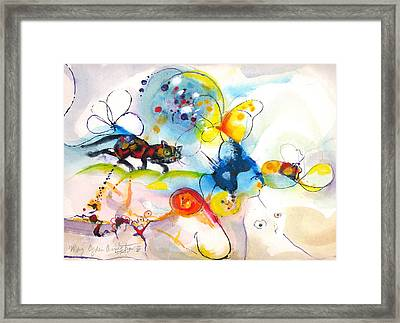 On The Prowl Framed Print by Mary Armstrong
