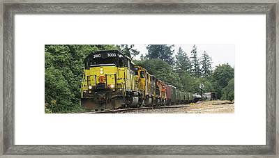 On The Rails Framed Print