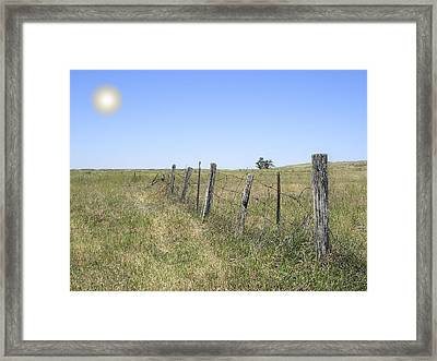 On The Range Framed Print by Daniel Hagerman