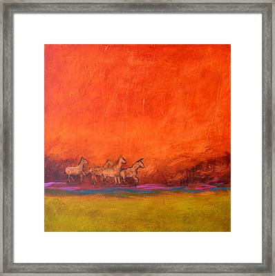 On The Range Framed Print by Filomena Booth