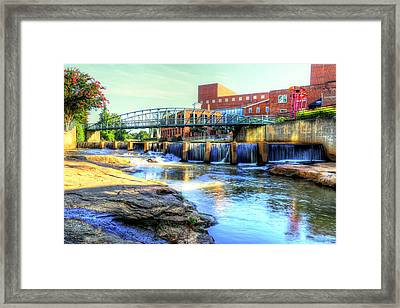 On The Reedy River In Greenville Framed Print