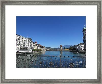On The Reuss River Framed Print