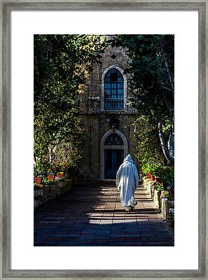 On The Right Path Framed Print