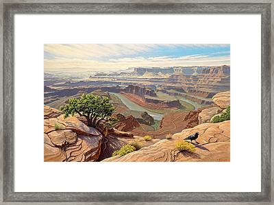On The Rim-dead Horse Point Framed Print by Paul Krapf