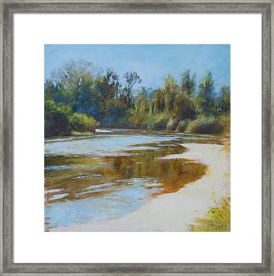 On The River Framed Print by Nancy Stutes