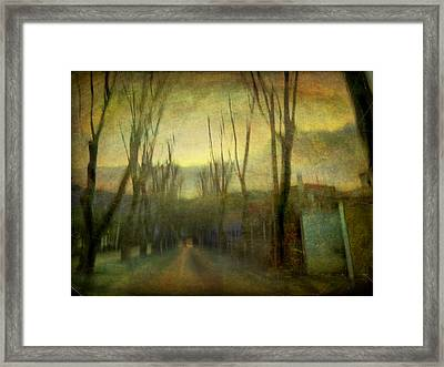 Framed Print featuring the photograph On The Road #13 by Alfredo Gonzalez