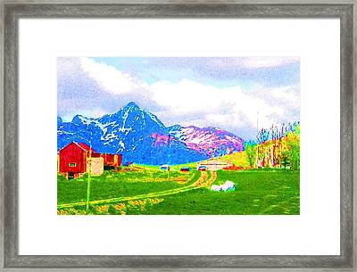 I'm On The Road Again And That Is The Best Place To Be  Framed Print