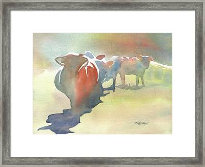 On The Road Framed Print by Kris Parins