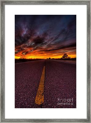 On The Road  Framed Print by Mark Benson