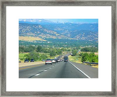 On The Road Framed Print by Nicola Nobile