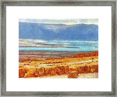 On The Road To Masada Framed Print