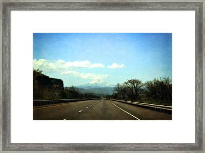 On The Road To Mount Hood Framed Print