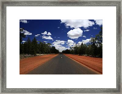 On The Road To Nindigully Framed Print by Noel Elliot