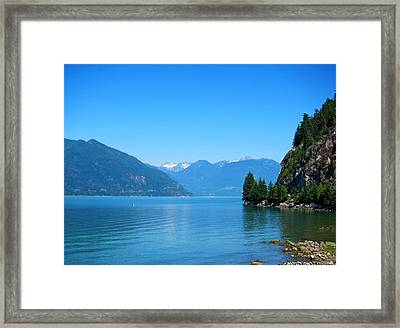 On The Road To Whistler Framed Print