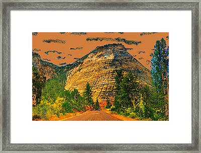 On The Road To Zion Framed Print by David Lee Thompson