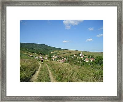 On The Road We Stay With Faith Framed Print