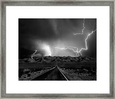 On The Road With The Thunder Gods Framed Print by Yvette Depaepe