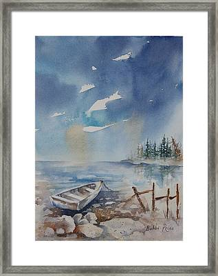 On The Rocks Framed Print by Bobbi Price