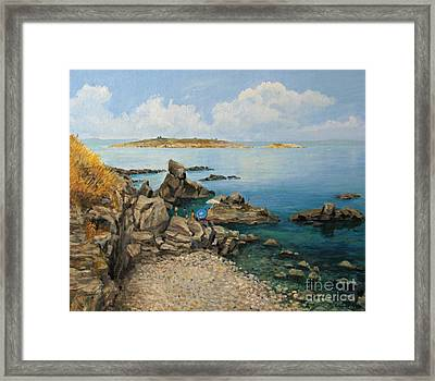 On The Rocks In The Old Part Of Sozopol Framed Print by Kiril Stanchev